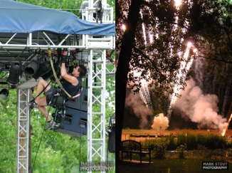 America Concert, fireworks at Hudson Gardens