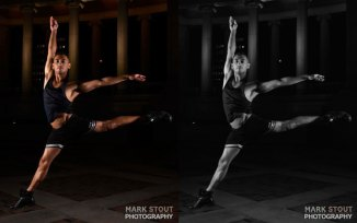 Male dancer at night