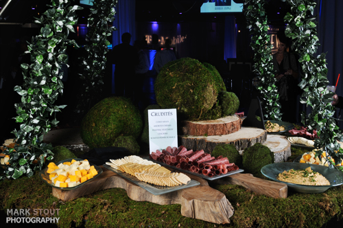 Food buffet photographed at a denver corporate event