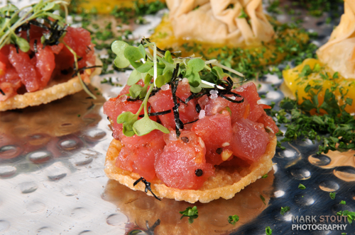 Photography of appetizers at Exdo event center