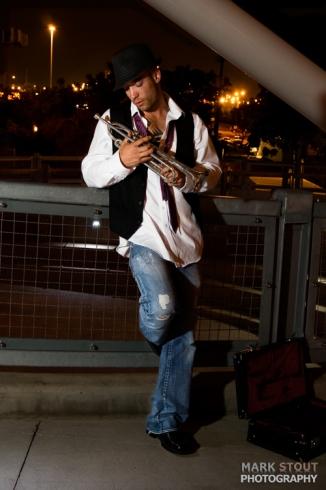 Sexy male musician