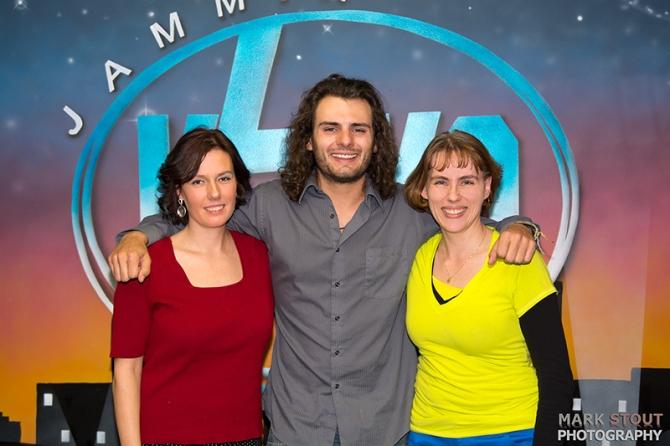 Aimee Upchurch, Brennan Dalsing, Diana Faltermier with KZKO Raido