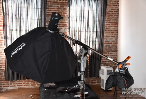 The new Profoto octabox shot from the mezzanine level.