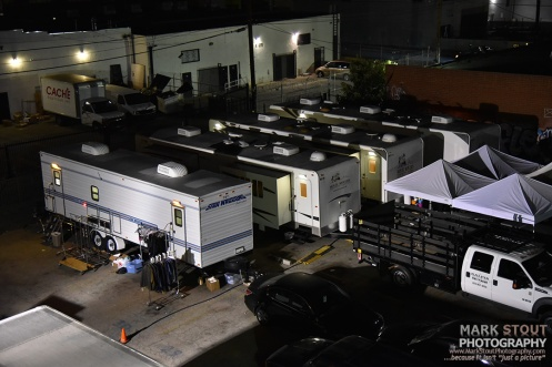 Film crews at my new studio in the Los Angeles Fashion District