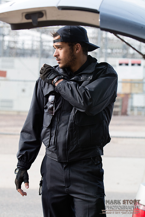 Lifestyle shot for uniform catalog, copyright Mark Stout