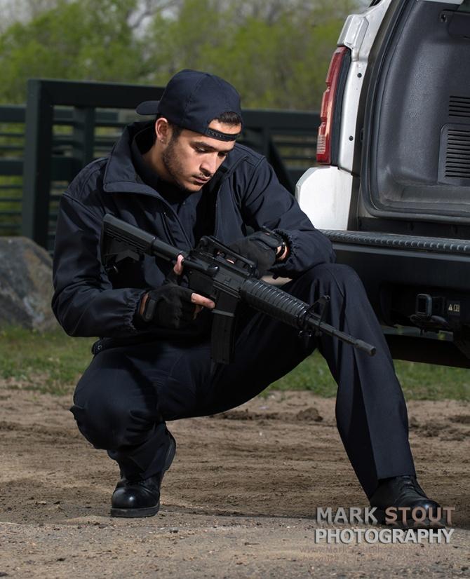 Action shot for uniform catalog, copyright Mark Stout