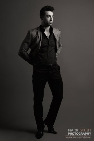 Men's fashion campaign shoot, copyright Mark Stout